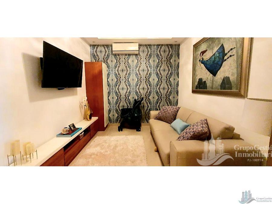 apartamento amoblado 2 rec en ave balboa ph rivage