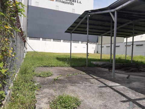 alquiler lote de 850m2 parque industrial costa del este