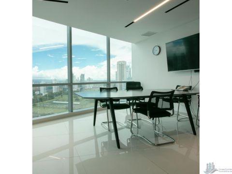 oficina amoblada en costa del este financial park 230 m2
