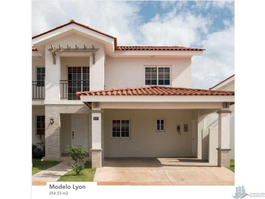 se vende casa en reservas de versalles modelo lyon 25453 m2