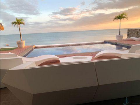villa de playa frente al mar
