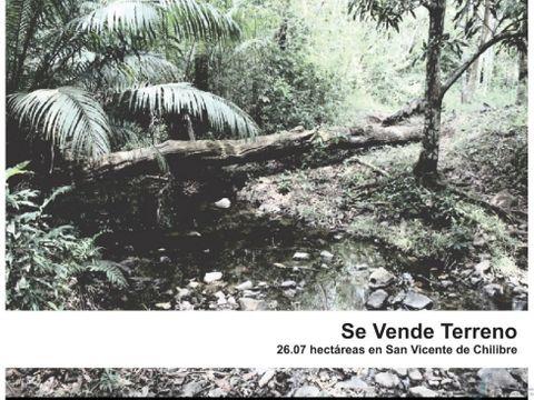 se vende terreno en san vicente de chilibre 2607 hectareas o alquiler