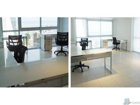 oficina amoblada 45mts2 en ph colores bella vista