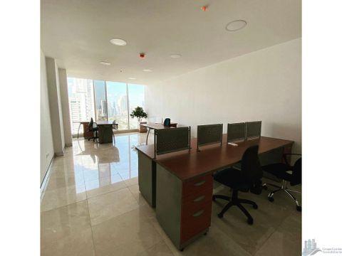 oficina amoblada mtto incluido 50m2 av balboa torre boc