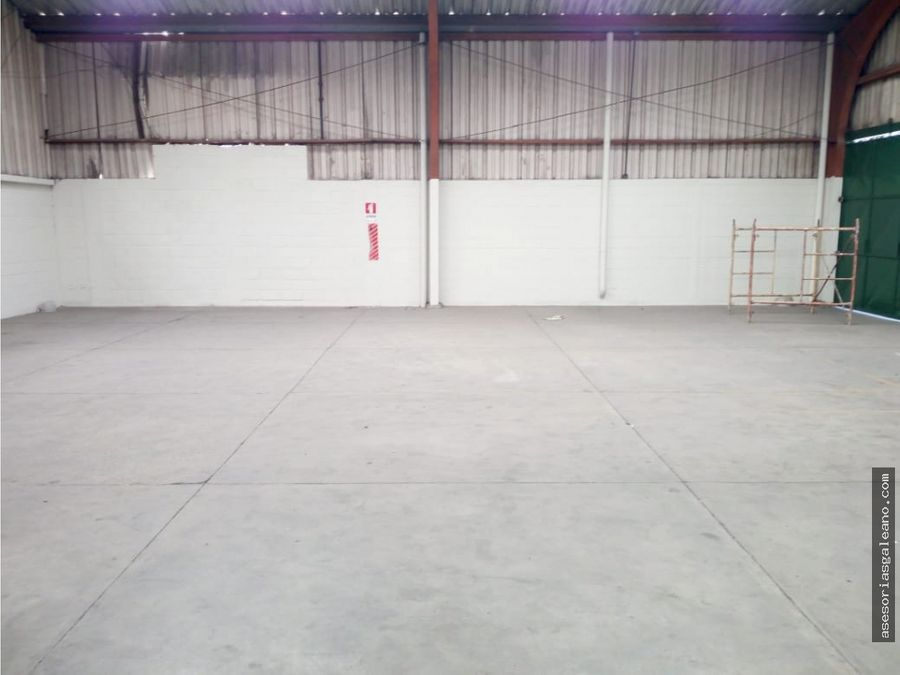 bodega en renta zona 12 atanasio tzul 1800 metros cuadrados