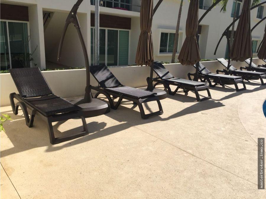 departamento cancun 2 recamaras av huayacan seguridad amenidades
