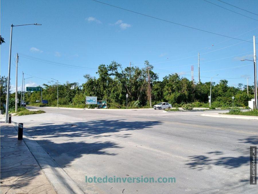 lote terreno de inversion puerto morelos urbanizados residencial kuub