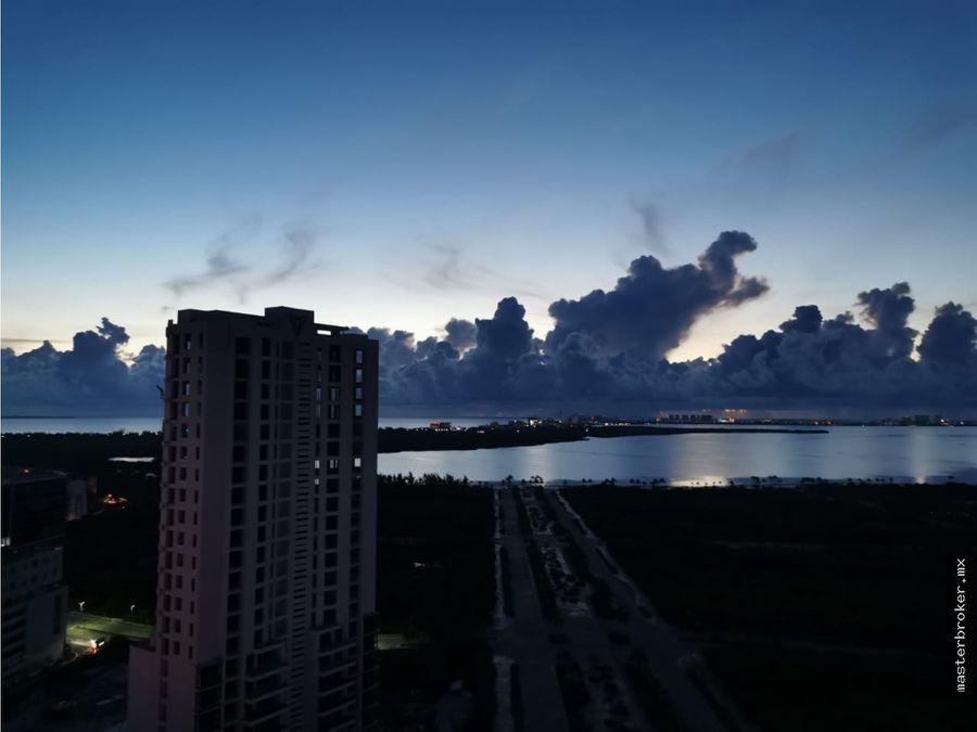 departamento malecon americas cancun piso alto vista mar caribe