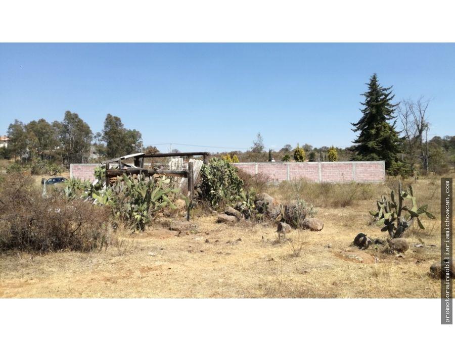 terreno campestre en privado jardines de iratzio morelia