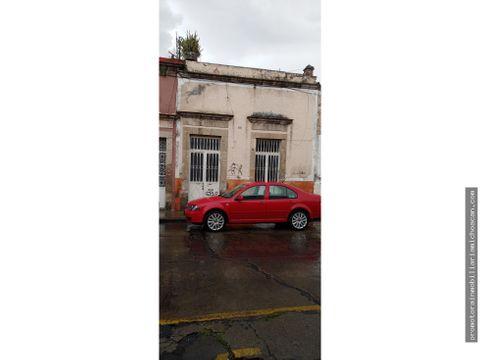 casa comercial para restaurar en el centro historico de morelia
