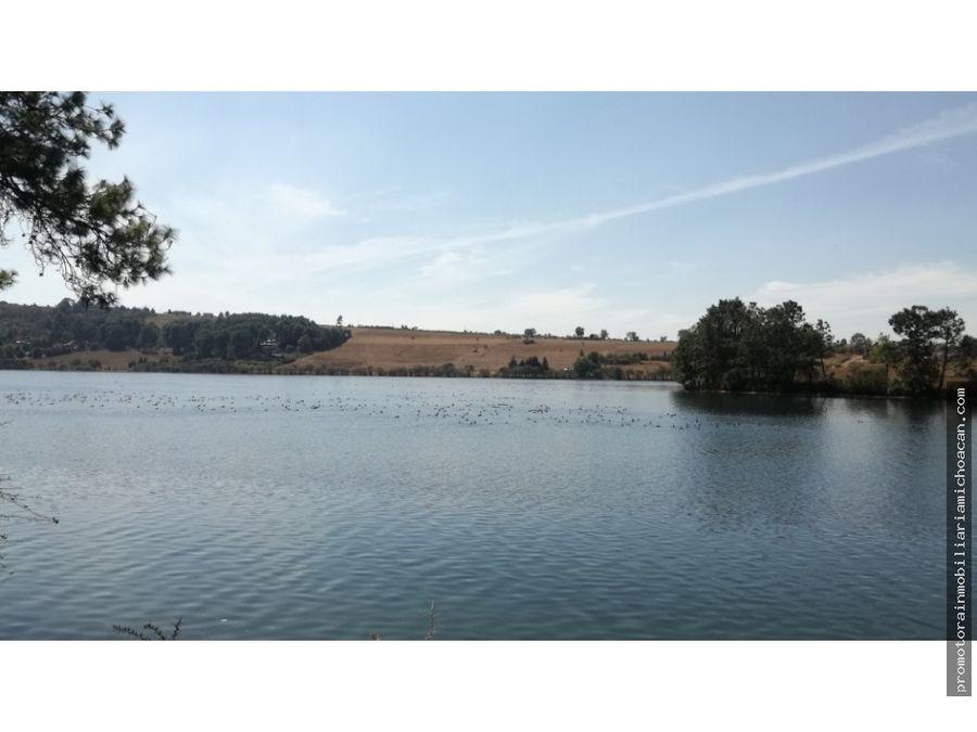 terreno campestre en el lago de umecuaro morelia