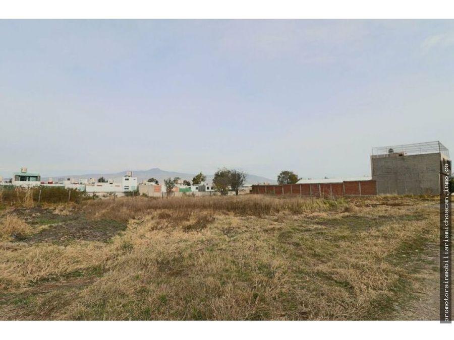terreno de 1641m2 ex hacienda la huerta morelia