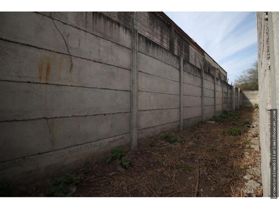terreno 1300m2 semiconstruido en ciudad industrial morelia