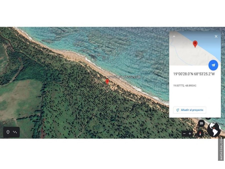 solar con frente de playa 835 metros lineales