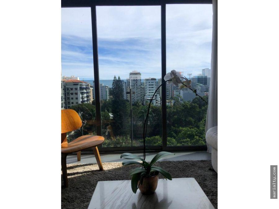 se vende apartamento de 1 habitacion en piantini
