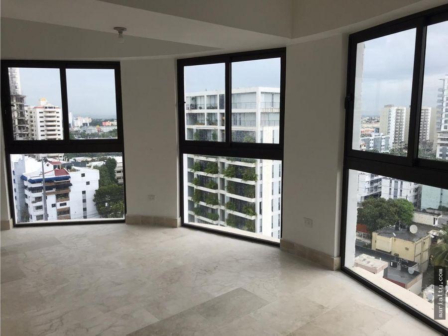 se vende apartamento tipo loft de 2 niveles en piantini