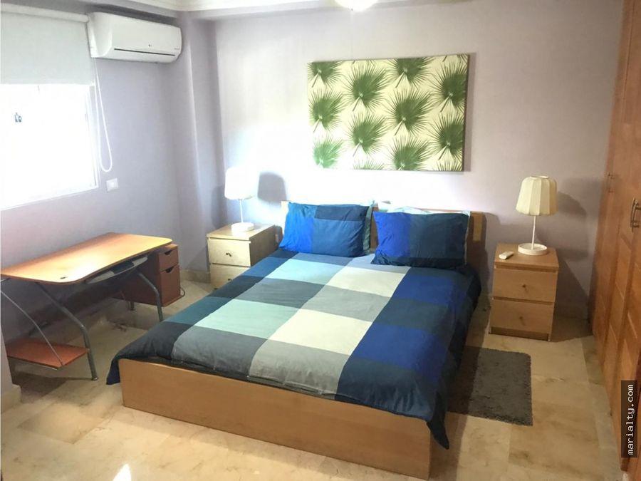 se vende amplio apartamento de 2 habitaciones en naco