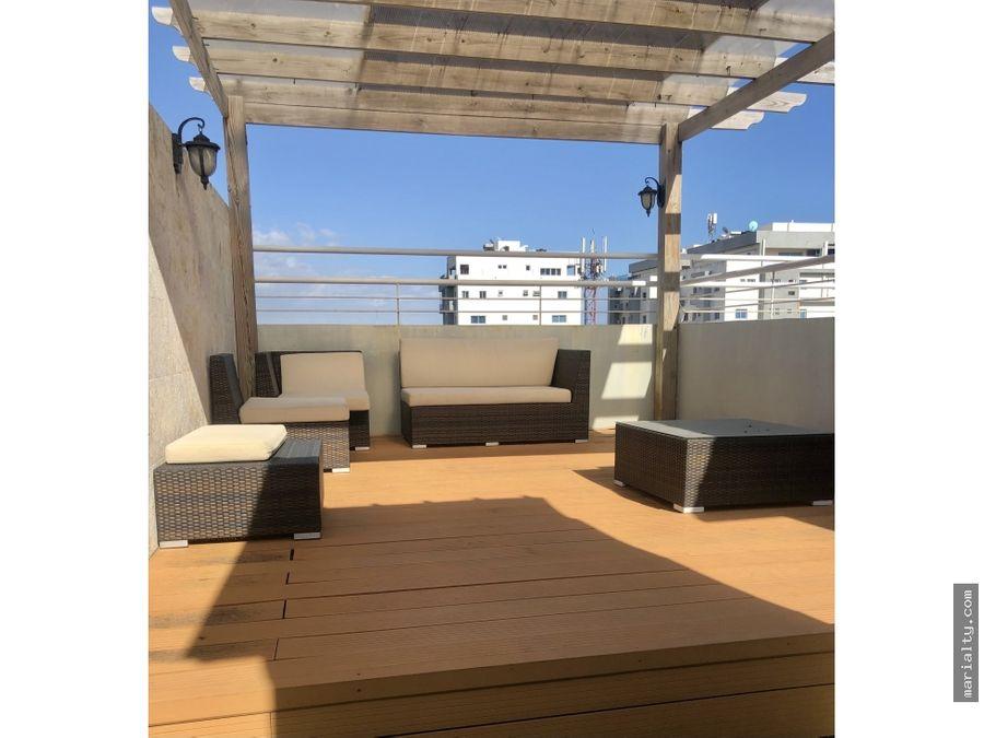se vende penthouse de 3 habitaciones y terraza en gazcue