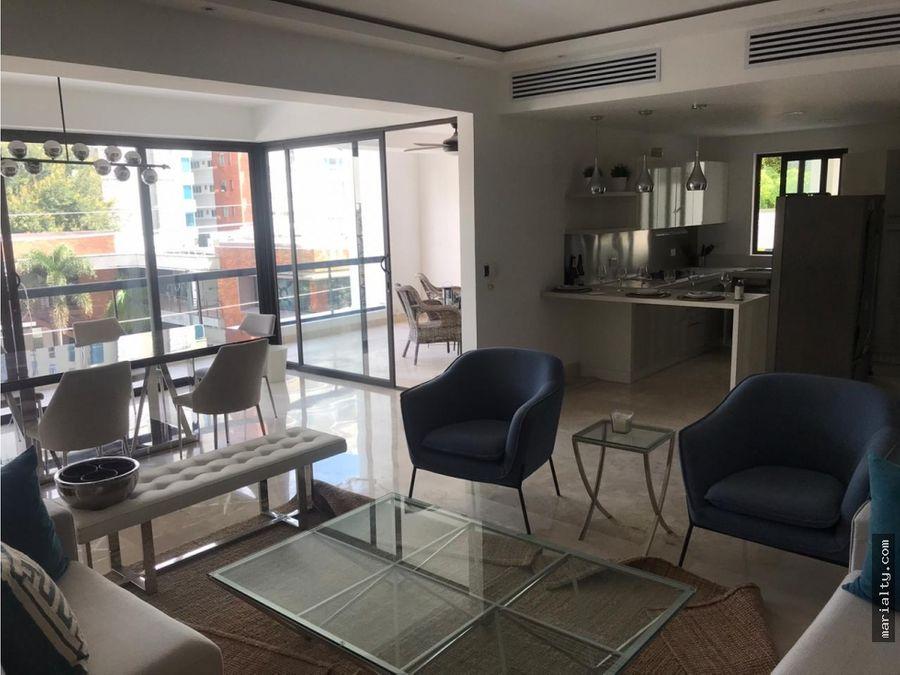 se vende apartamento de 3 habitaciones en piantini