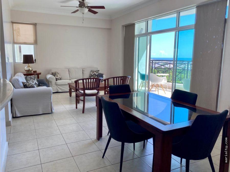 se vende apartamento de 3 habitaciones en la anacaona con vista al mar