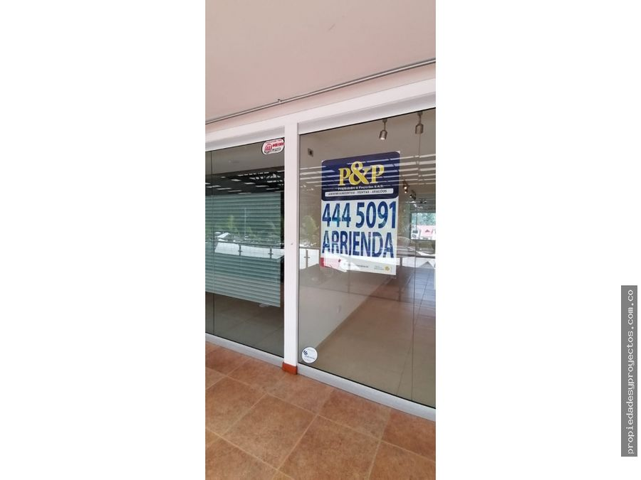 en arriendo local comercial en distinguido mall sector llanogrande
