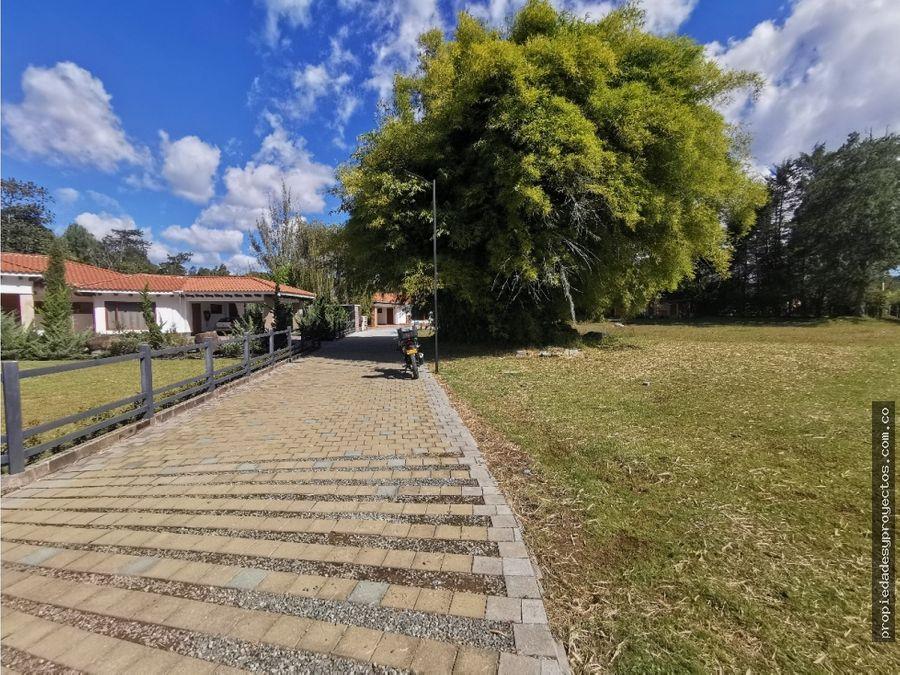 en venta lote en exclusiva parcelacion de rionegro sector cabeceras