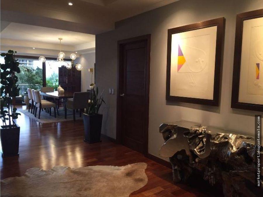 apartamento en venta zona 14 muy exclusivo