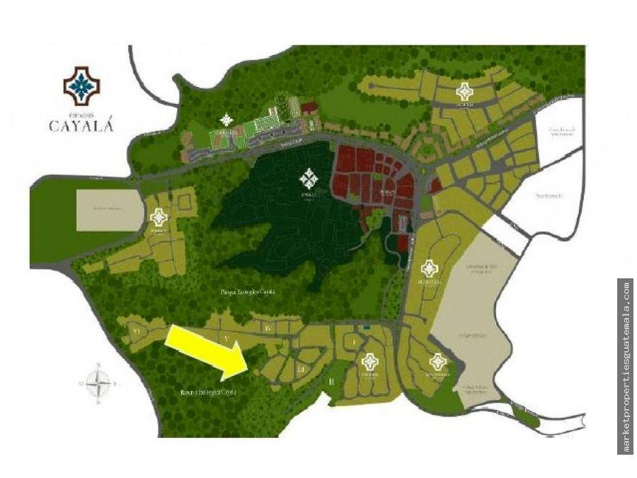 terreno en venta encinos cayala zona 16 guatemala