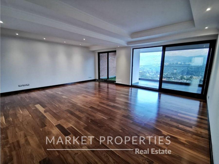 apartamento en venta en edificio noguchi zona 14