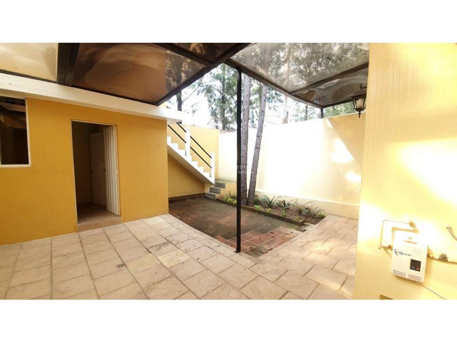 casa en alquiler en zona 16 cascadas de vista hermosa iv