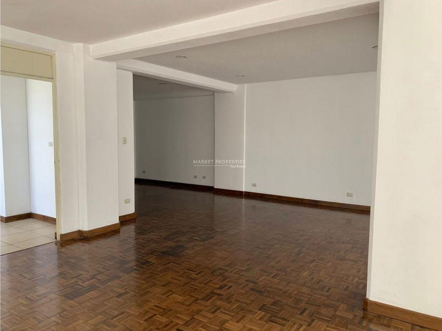 apartamento en alquiler en zona 15 edificio convista