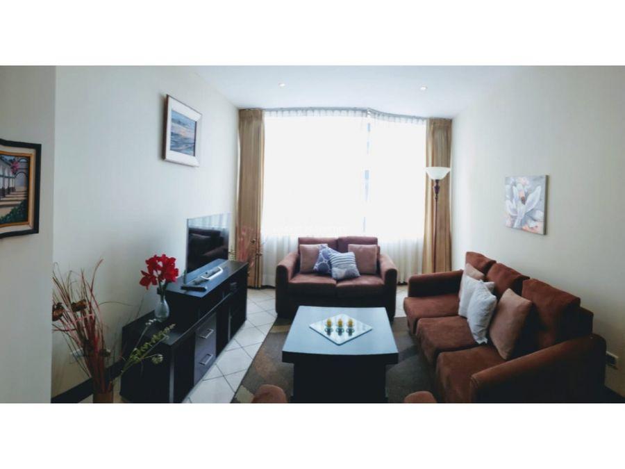 apartamento amueblado en renta en zona 10 edificio milenia