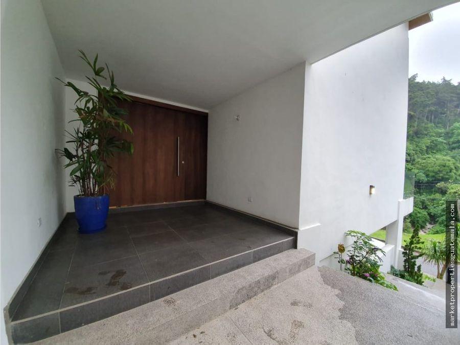 casa en alquiler de lujo en muxbal guatemala