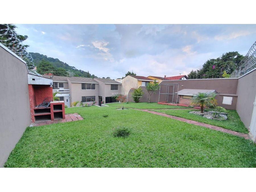 casa en renta en zona 16 la montana