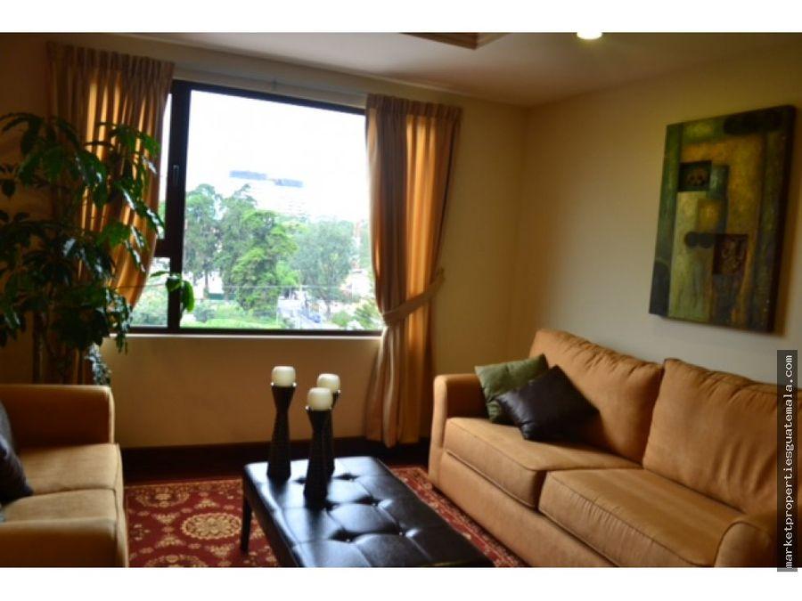 apartamento en zona 10 de 2 habitaciones