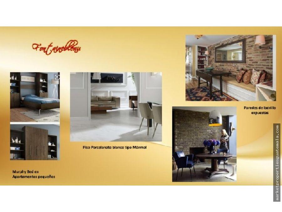 apartamentos en alquiler zona 15 de 1 habitacion