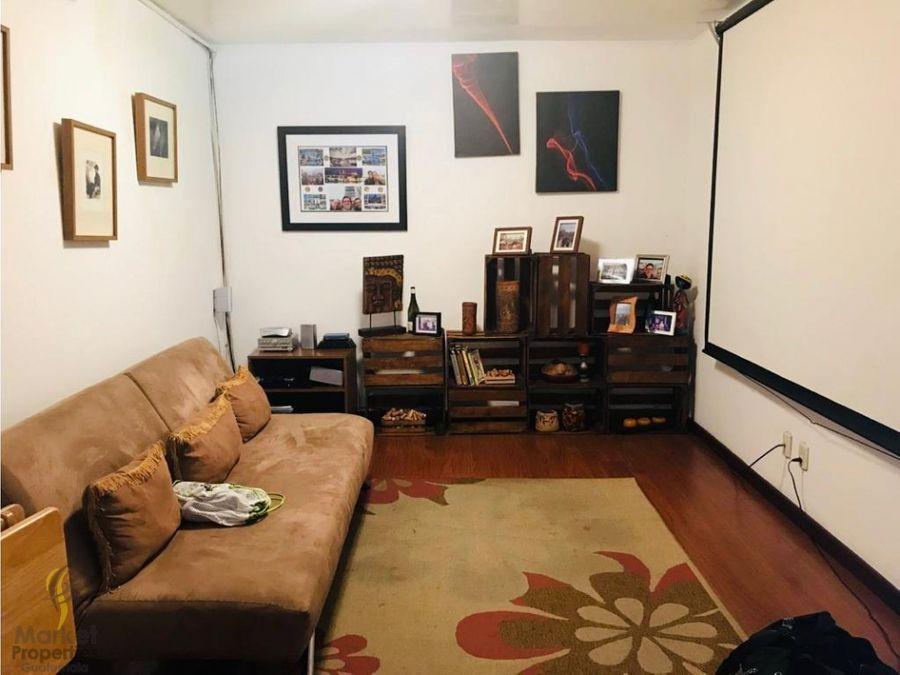 apartamento en renta zona 14 amueblado