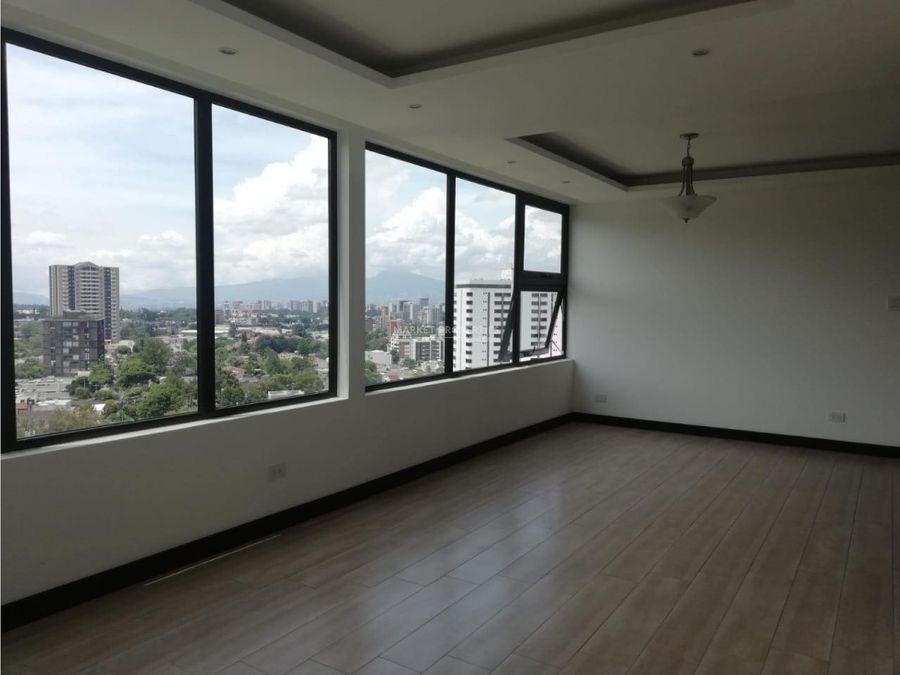 apartamento en renta en zona 15 edificio liv