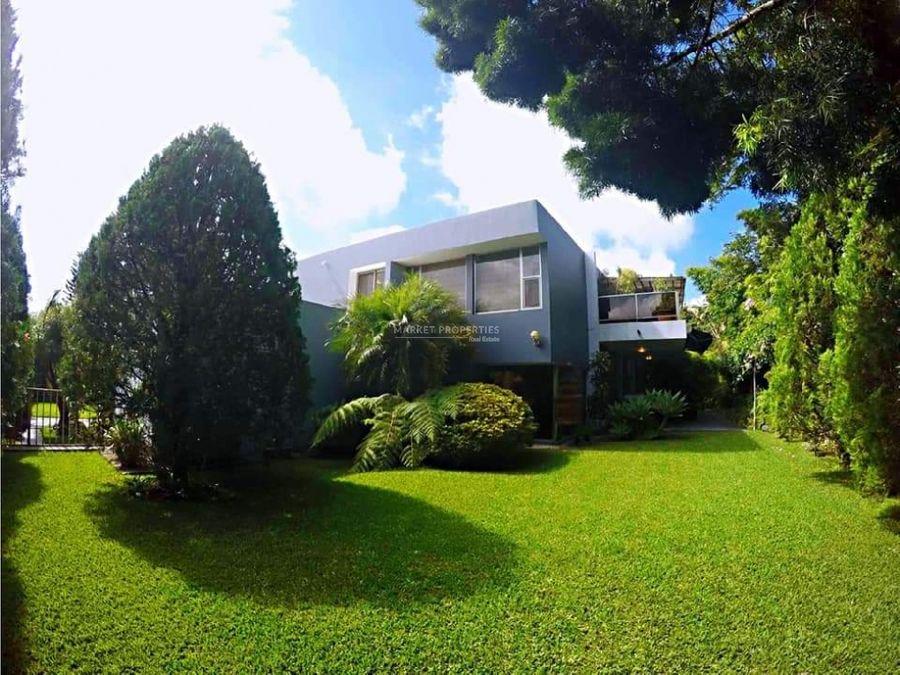 casa en alquiler en zona 16 jardines de san isidro