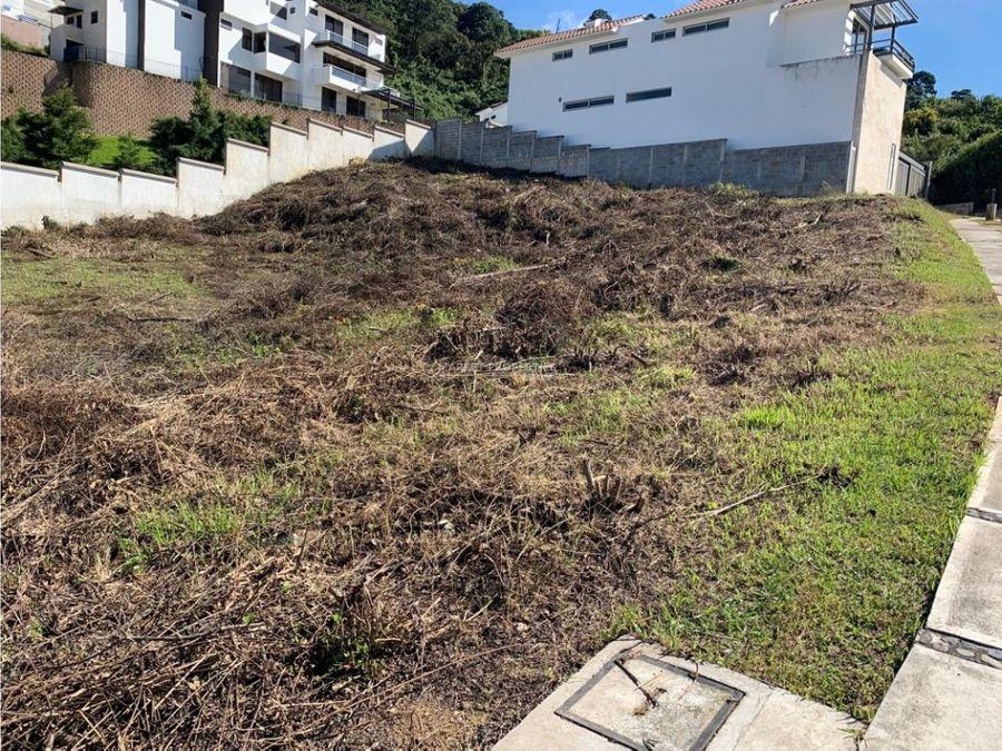 terreno en venta zona 16 lomas de san isidro