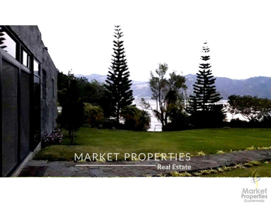 mansion en venta a orilla del lago de atitlan