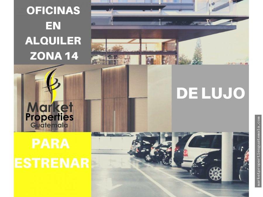 oficinas en renta zona 14 guatemala 2175mts2