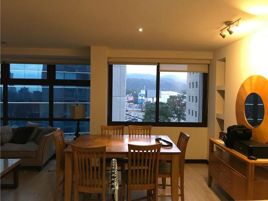 apartamento amueblado en renta en zona 10 edificio veinti4