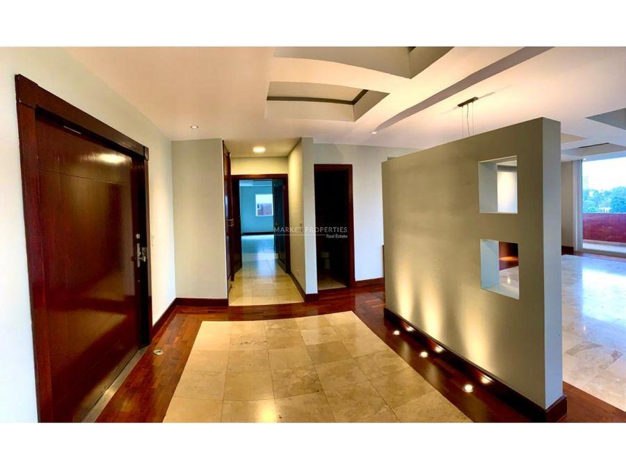 apartamento en alquiler en zona 14 vista real