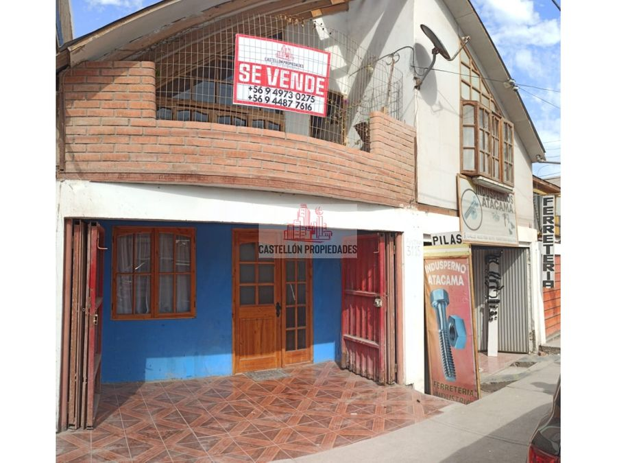 casa con local comercial en sector la pampa