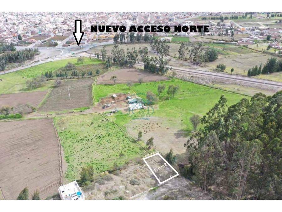terreno cerca a la nueva avenida gonzalo davalos