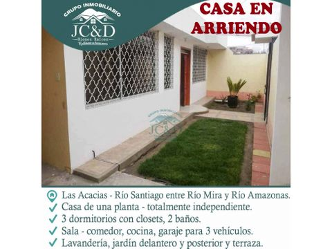 casa independiente de arriendo