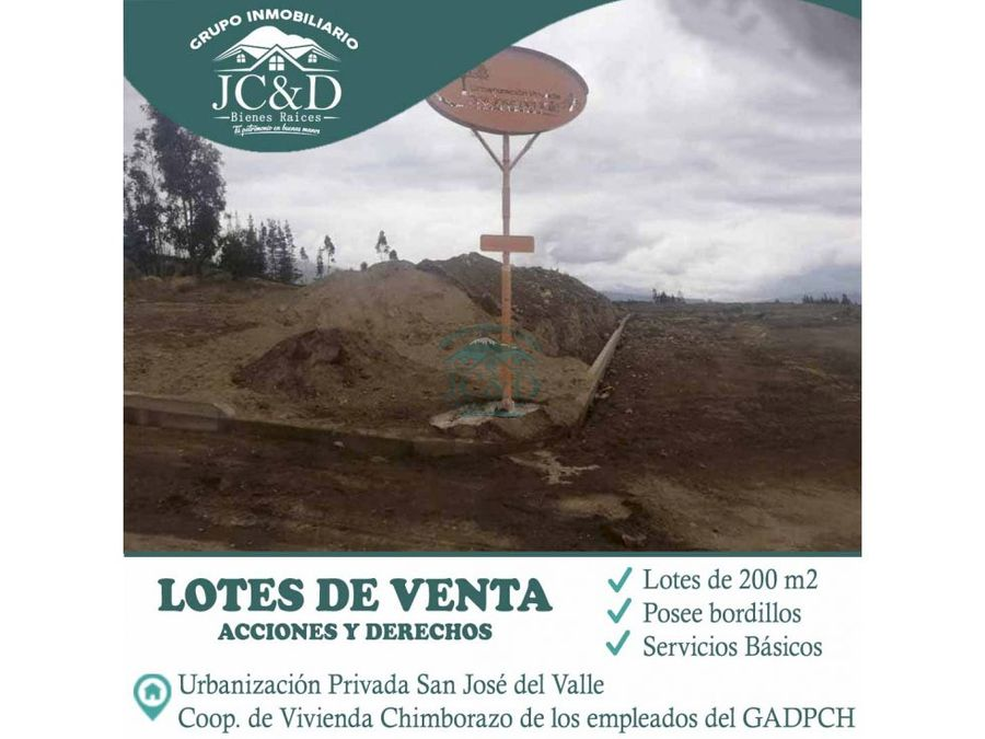 se vende lotes al norte de riobamba