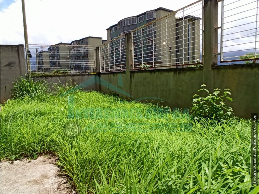 en venta apto 2h 1 b 1pe terraza la sabana pb obra gris guatire