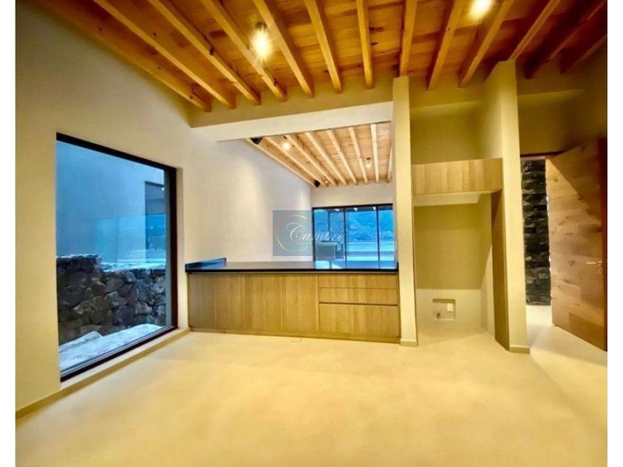 casa en renta con acceso y vista al lago